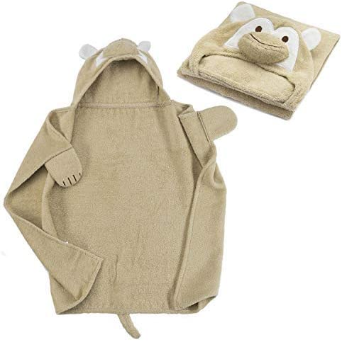 Toalla con capucha para bebé Toalla con capucha de 100% algodón de rizo - Toalla de baño para bebé con capucha - Oeko-Tex 100; Mono: Amazon.es: Hogar
