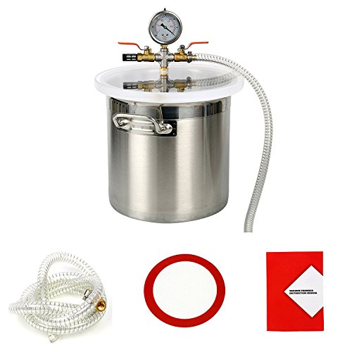 YaeTek 3 Gallon Stainless Steel Degassing Vacuum Chamber for sale  Delivered anywhere in Canada