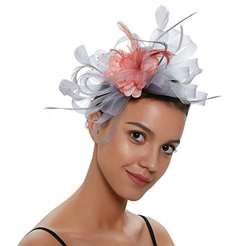 S&W Manufacturing Women Girls Fascinators Hat Cocktail Wedding Feathers Clips Derby Hairpins
