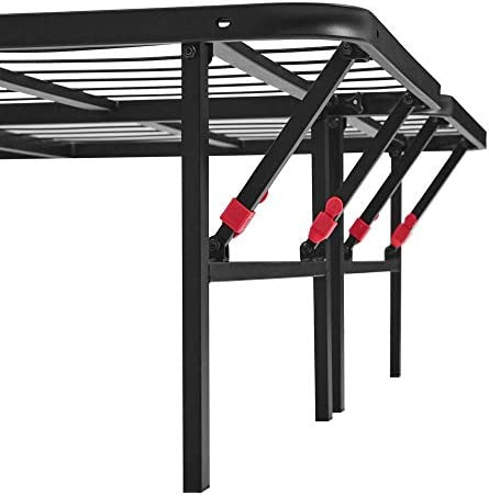 Amazon Basics Foldable, 14″ Metal Platform Bed Frame with Tool-Free Assembly, No Box Spring Needed – Twin 41NwFWlgD2L