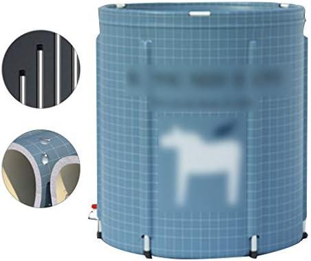 大人用浴槽折りたたみ式家庭用浴槽全身浴槽折りたたみ式浴槽全身浴槽折りたたみ式収納浴槽子供用水浴 浴室用設備 (Color : Blue, Size : 70*70cm)