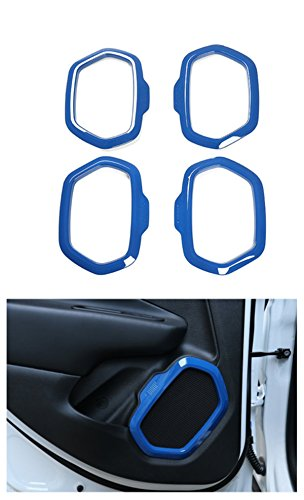 - Dwindish Blue ABS Interior Car Door Sound Speaker Audio Ring Cover Trim for Jeep Renegade 2015 Up