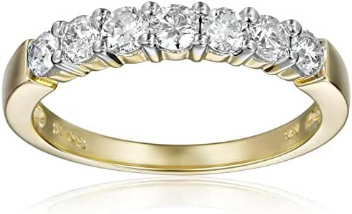 14k Gold 7-Stone Diamond Ring (3/4 cttw, H-I Color, I1-I2 Clarity)