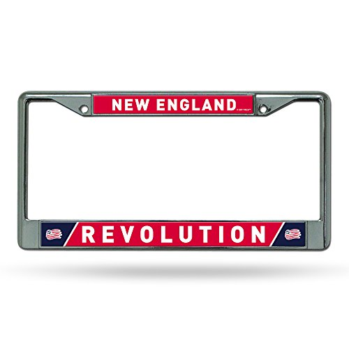 (Rico Industries MLS New England Revolution Standard Chrome License Plate Frame)