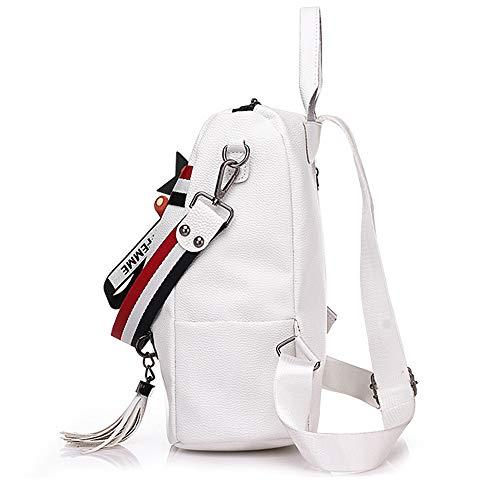 grande capacité femme forme Sac Woman à pour Back en blanc Bag dos sac à de multifonctionnel Sjymkyc dos qZaRwx