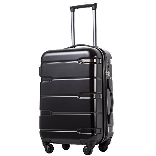 Coolife Luggage Expandable Suitcase PC+ABS Spinner 20 inch 24 inch 28 inch