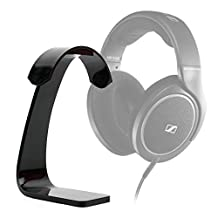 Plastic Headphone / Headset Desk Stand / Holder with Cable Hook for the Sennheiser HD 598SR, HD-280 PRO Headphones, Sennheiser RS120 & Sennheiser HD201 - by DURAGADGET