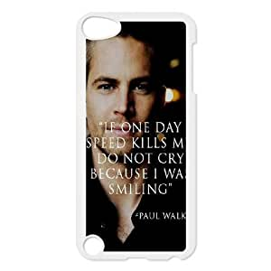 BESTER Customized Cover Case with Hard Shell Protection for Ipod Touch 5 case with Paul Walker lxa#7098062