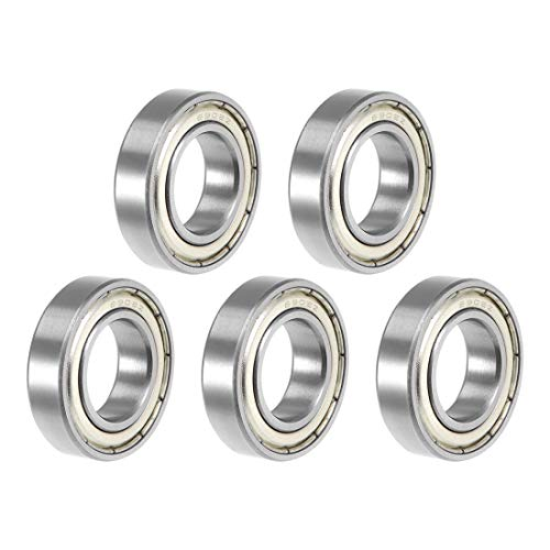 uxcell/® 6801-2RS Deep Groove Ball Bearing 12x21x5mm Double Sealed ABEC-1 Bearings 5-Pack