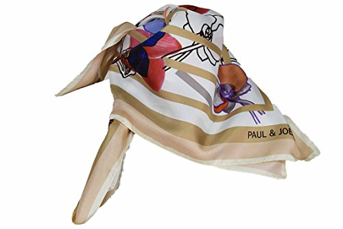 Paul & Joe - Foulard soie Patchwork flower beige