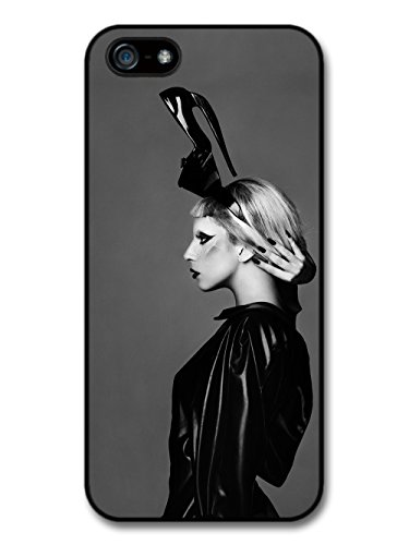 Lady Gaga Shoe Hat Black & White Born This Way hülle für iPhone 5 5S