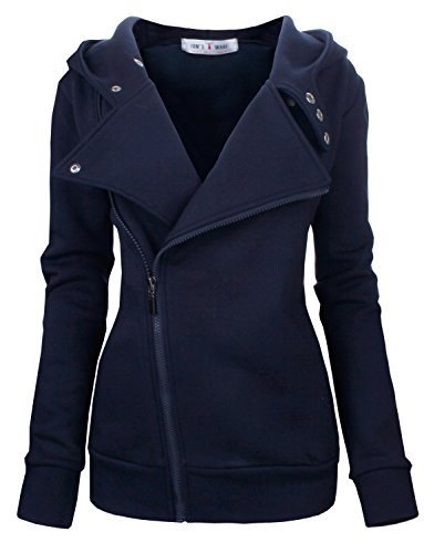 Tom's Ware Women Slim fit Zip-up Hoodie Jacket TWHD1003-NAVY-M