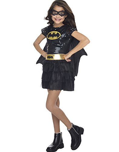Rubie's Costume DC Superheroes Batgirl Sequin Dress Child Costume, Medium]()
