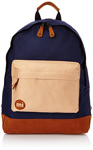 Mi-Pac Tri-Tone Unisex Backpack Burgundy/White/Navy 740004-298 Bleu Marine Marron Clair n80b9v