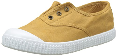 victoria Unisex-Kinder Inglesa Lona Tintada Puntera Sneaker Gold (Oro)