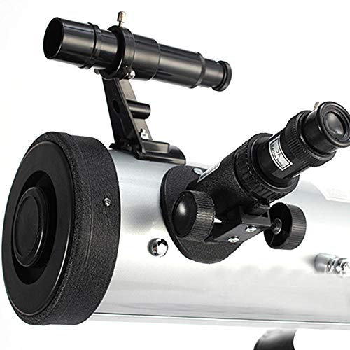 Leiyini Student Portable Telescope Outdoor 1.5 Times Magnification Mirror Telescope Astronomy 2 Times Barlow Large Diameter with Tripod Silver Single Cylinder Telescope by Leiyini (Image #4)