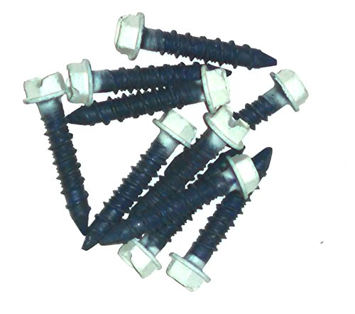 Box of 100 1//4 Diameter x 1-3//4 Length MKT Steel Conset Masonry Screw Anchor Phillips Flat Head