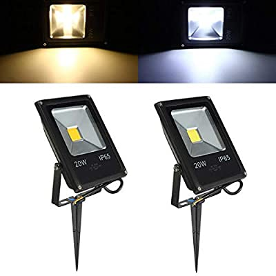 20W Waterproof IP65 White/Warm White LED Flood Outdoor Garden Security Lamp - Outdoor Lighting LED Flood Lights - 1x LED flood light