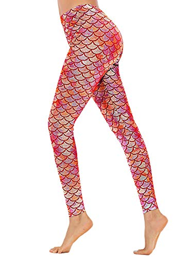 Halloween Women Skinny Full Length Mermaid Leggings Party
