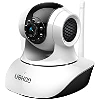 UOKOO Pan/Tilt/Zoom Wireless IP Security Surveillance Camera System 720p HD with Motion Detection/Two Way Audio/Night Vision C7835