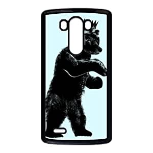 LG G3 Cell Phone Case Black DJ Grizzly Bear King DAC Cell Phone Cases For Cheap