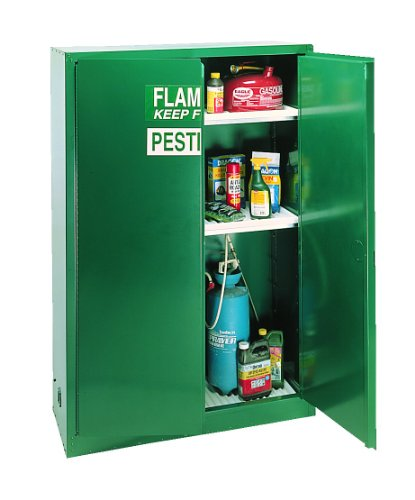 Eagle PEST47 Pesticide Safety Cabinet for Pesticides and Poisons, 2 Door Manual Close, 45 gallon, 65