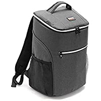Insulated Backpack Cooler Bag Lunch Bag Waterproof Soft Lunch Ice Cooler Backpack Large Capacity for Men Women Beach Hiking Picnic Fishing BBQ Cold Beer 25Cans