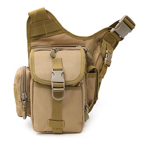 Wmshpeds Deportes al aire libre grandes portasilla hembra multi-funcional de las tácticas de camuflaje del ejército paquete super fans hombro bolsa bandolera hombres B