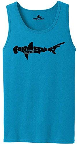 Koloa Surf(tm) SHARK Logo Tank Top-NeonBlue/b-3XL by Joe's USA