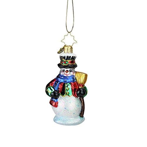 Christopher Radko Dickensian Snowman Little Gem Christmas Ornament #1019200