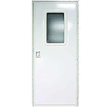 Lippert components v000042629 polar white 24 - 30 x 80 exterior door with pet door ...