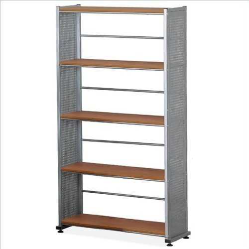 Mayline Small Office - Home Office Accent Shelving (5-Shelf) In Metalic Gray Paint,