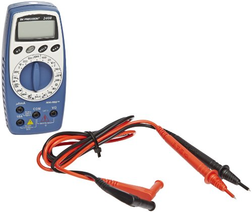 BK Precision 2408 Mini-Pro Digital Manual-Ranging, Average-Sensing Multimeter with Noncontact Voltage Tester, 10 Amp, 600V, 20 Megaohms (Mini Digital Multimeters Voltage Detector)
