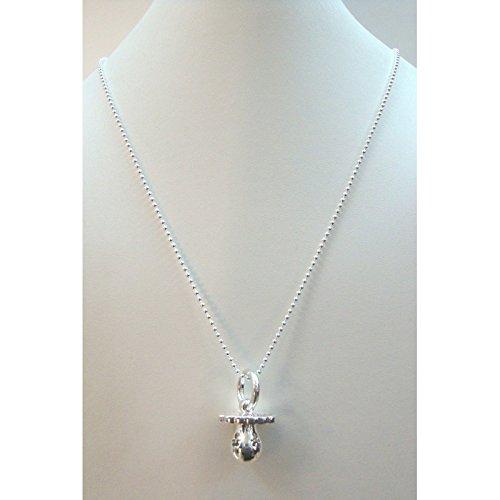 Le Bebè - Collar con colgante de chupete de plata 925 ...