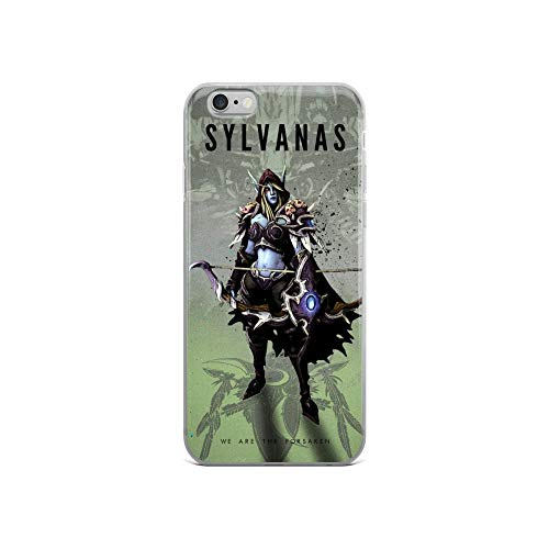 iPhone 6/6s Case Anti-Scratch Gamer Video Game Transparent Cases Cover Elf Girl Gaming Computer Crystal Clear -