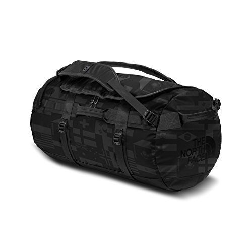 The North Face International Collection Base Camp Duffel Bag (Medium), TNF Black Flag Print by The North Face