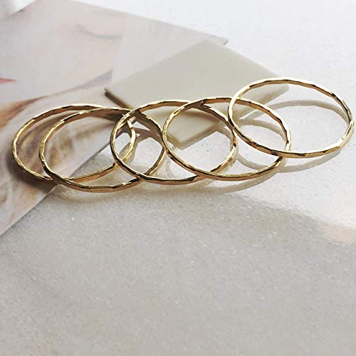 ngs 14k Gold Filled, Dainty Little Plain Bands, Size 4 ()