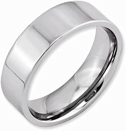 Top 10 Jewelry Gift Cobalt Flat Polished 7mm Band