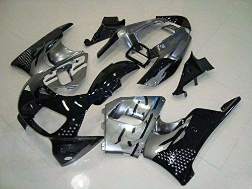 FocusAtOne Black Silver with Grey Complete Fairing Bodywork Painted ABS Plastic Thermoform Molding Kit for 1996-1997 96-97 Honda CBR900RR CBR 900 RR 893