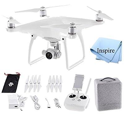 DJI Phantom 4 Quadcopter Drone Aircraft + Inspire Digital Ultra Gentle Microfiber Lens Cleaning Cloth