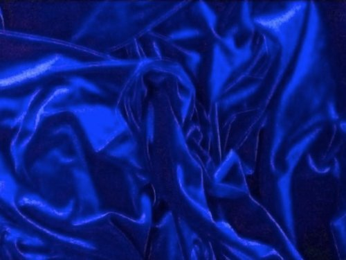 TRULY a Royal BLUE Stretch Velvet Fabric 60