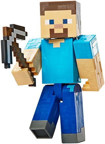 Minecraft Basic Action Figure, Steve with Pickaxe