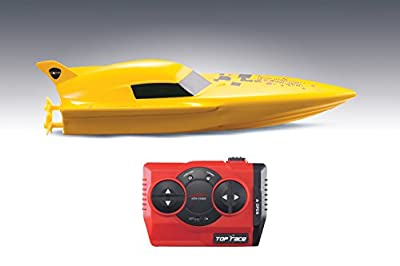 Torpedo 2.4GHz Mini RC Racing Speedboat by DeluxeRC (Yellow Color)