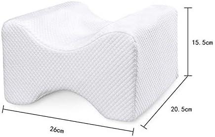 Oreiller de Soutien du Genou en Mousse à mémoire élastique Oreiller de Jambe latéral ou postérieur pour soulager la taie d'oreiller 1 pcs25,5 x 18 x 18 cm taie d'oreiller