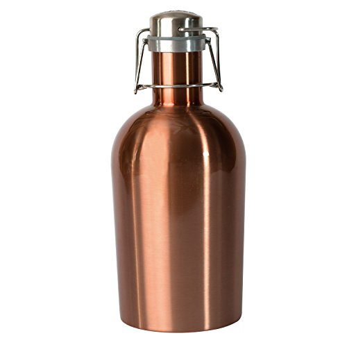 Asobu Coolest Stainless Steel Beer Growler 2 Go, 64 oz, Copper