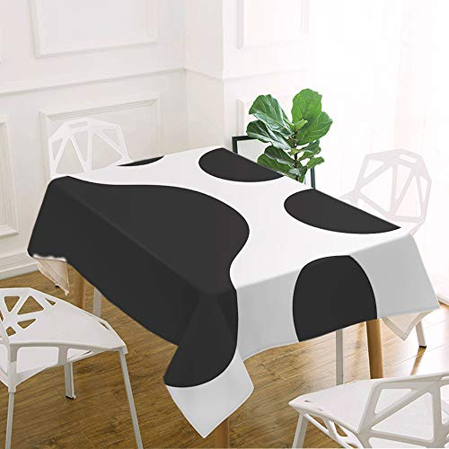 oFloral Dog Foot Print Table Cloth Wildlife Manmal Animal Foot Paw Shape Print Decorative Rectangle Tablecloth Home Decor for Kitchen Dinning Tabletop Buffet Table Party Outdoor Picnic 60x90 Inch ()