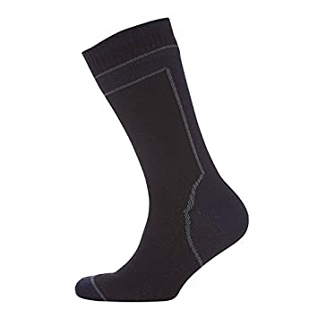 Calcetines Sealskinz MID Weight MID Length con Hydro Stop Unisex Negro Talla S 36 – 38