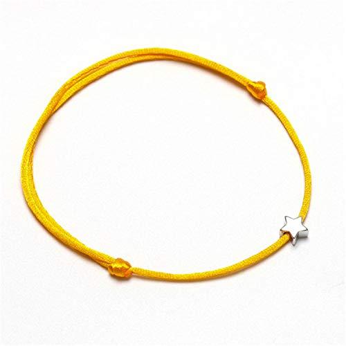 Lucky Silver Golden Star Red String Bracelet for Women Men Kids Adjustable Rope Braided Bracelet Mom -