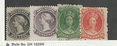 Nova Scotia, Postage Stamp, 8-9, 11-12 Mint Hinged, 1860-63, JFZ