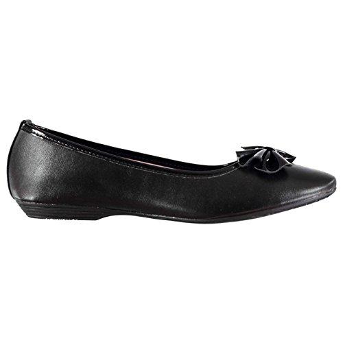 Miss Fiori Brittany Kinder Mädchen Schuhe Smart Ballerinas Schulschuhe Slipper Schwarz 5 (38)